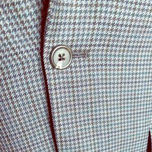 Lauren Ralph Lauren 100% Wool Houndstooth Blazer